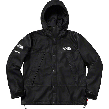 Supreme®/The North Face® Leather Mountain Parka (Black)