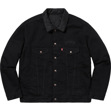 Supreme®/Levi's® Quilted Reversible Trucker Jacket (Black)