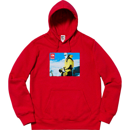 Supreme®/The North Face® Photo Hooded Sweatshirt (Red)