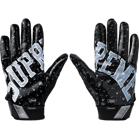 Supreme®/Nike® Vapor Jet 4.0 Football Gloves (Black)