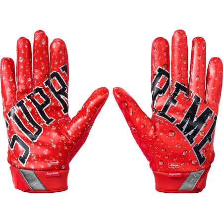 Supreme®/Nike® Vapor Jet 4.0 Football Gloves (Red)