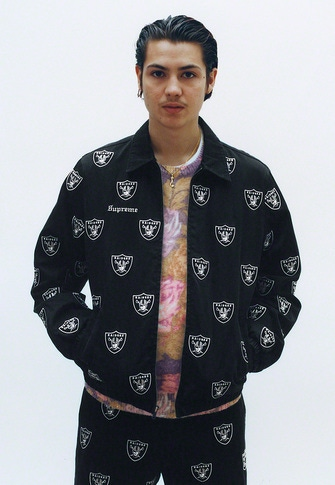 Supreme®/NFL/Raiders/'47 Embroidered Harrington Jacket Printed Floral Angora Sweater Supreme®/NFL/Raiders/'47 Embroidered Chino Pant