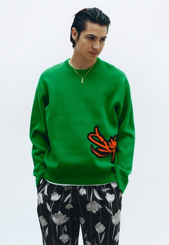 Tag Logo Sweater S/S Pocket Tee Floral Silk Track Pant