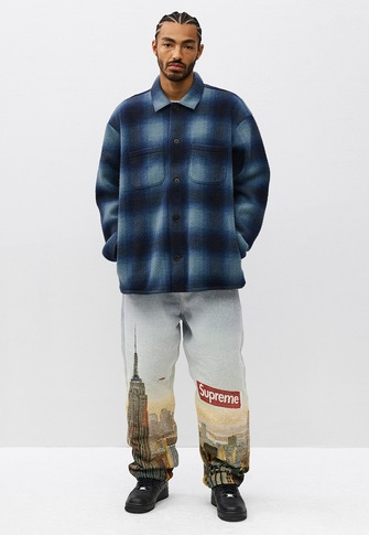 Shadow Plaid Fleece Shirt Small Box Tee Aerial Tapestry Regular Jean Supreme®/ Nike® Air Force 1 Low