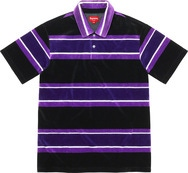 Stripe Velour Polo
