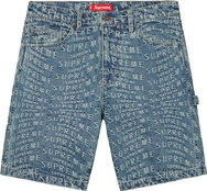 Warp Jacquard Logos Denim Painter Short