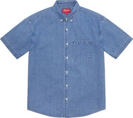 Embossed Denim S/S Shirt